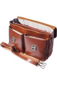 Δερματινος Χαρτοφυλακας Andrea Firenze Leather 7626 Καφε