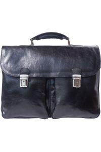 Δερματινος Χαρτοφυλακας Andrea Firenze Leather 7626 Μαύρο