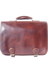 Δερμάτινος Χαρτοφύλακας 2 Θέσεων Firenze Leather 7610 Καφε