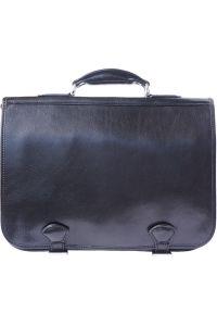 Δερμάτινος Χαρτοφύλακας 2 Θέσεων Firenze Leather 7610 Μαύρο