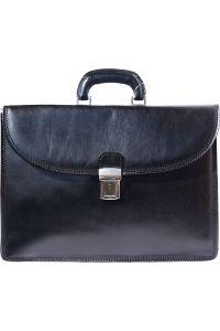 Δερμάτινος Χαρτοφύλακας 3 Θέσεων Firenze Leather 7603 Μαύρο