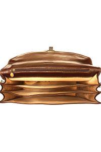 Δερμάτινος Χαρτοφύλακας 3 Θέσεων Firenze Leather 7603 Σκουρο Καφε