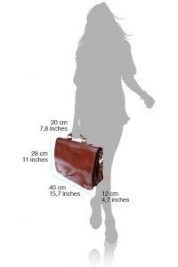 Δερμάτινος Χαρτοφύλακας 2 Θέσεων Firenze Leather 7607 Σκουρο Καφε