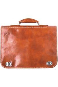 Δερμάτινος Χαρτοφύλακας 2 Θέσεων Firenze Leather 7607 Μπεζ