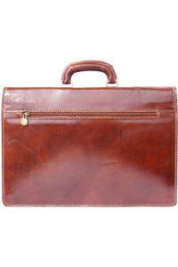 Δερμάτινος Χαρτοφύλακας 2 Θέσεων Firenze Leather 7604 Καφε