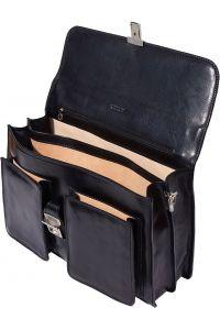 Δερμάτινος Χαρτοφύλακας 2 Θέσεων Firenze Leather 7604 Μαύρο