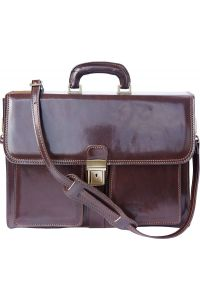 Δερμάτινος Χαρτοφύλακας 2 Θέσεων Firenze Leather 7604 Σκουρο Καφε