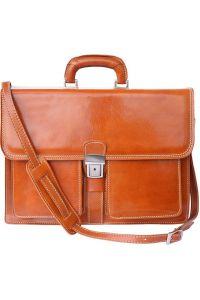 Δερμάτινος Χαρτοφύλακας 2 Θέσεων Firenze Leather 7604 Μπεζ