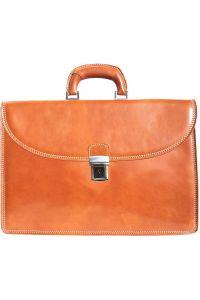 Δερμάτινος Χαρτοφύλακας 3 Θέσεων Firenze Leather 7617 Μπεζ
