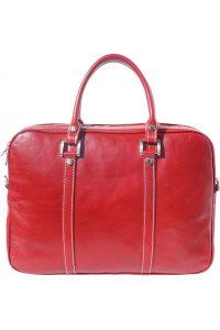 Γυναικειος Δερματινος Χαρτοφυλακας Voyage Firenze Leather 7628 Κόκκινο