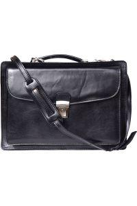 Δερματινος Χαρτοφυλακας Firenze Leather 7621 Μαύρο