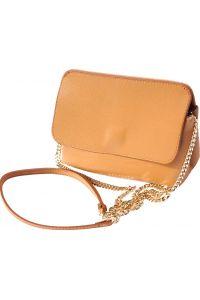 Τσαντακι Φακελος Δερματινο Firenze Leather 6145 Μπεζ