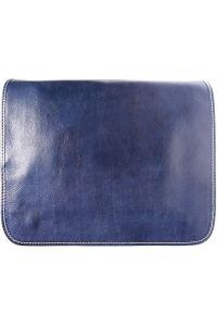 Δερματινη Τσάντα Ταχυδρόμου Firenze Leather 6548 Σκουρο Μπλε