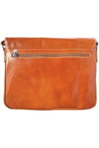 Δερμάτινη Τσάντα Ταχυδρόμου Firenze Leather 6548 Μπεζ