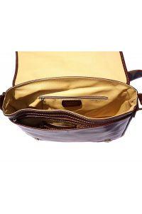 Δερμάτινη Τσάντα Ταχυδρόμου Firenze Leather 6548 Καφε