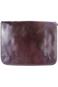 Δερμάτινη Τσάντα Ταχυδρόμου Firenze Leather 6548 Σκουρο Καφε