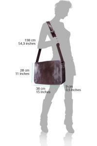 Δερμάτινη Τσάντα Ταχυδρόμου Firenze Leather 6548 Σκουρο Πρασινο