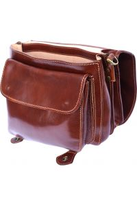 Δερμάτινος Χαρτοφύλακας Mini 2 Θέσεων Firenze Leather 7608 Καφε