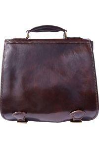 Δερμάτινος Χαρτοφύλακας Mini 2 Θέσεων Firenze Leather 7608 Σκουρο Καφε