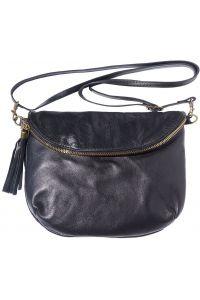 Δερματινο Γυναικειο Τσαντακι Rachele Firenze Leather 6120 Μαύρο