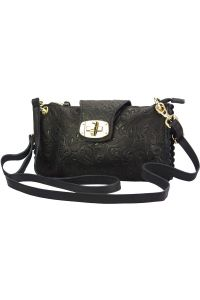 Τσαντακι Clutch Δερματινο Be Exclusive Firenze Leather 8611S Μαύρο