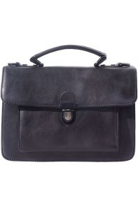 Δερματινος Χαρτοφυλακας 2 Θέσεων Mini Firenze Leather 68038 Μαύρο