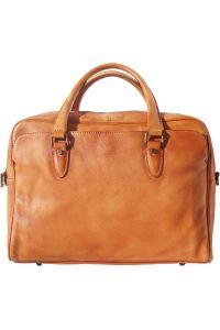 Δερματινος Χαρτοφυλακας Unisex Firenze Leather 68036 Camel