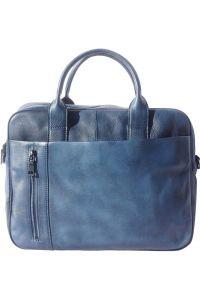 Γυναικειος Δερματινος Χαρτοφυλακας Firenze Leather 68037 Σκουρο Μπλε