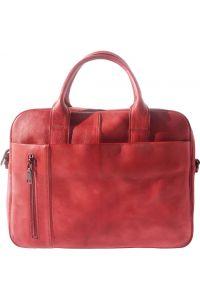 Γυναικειος Δερματινος Χαρτοφυλακας Firenze Leather 68037 Κόκκινο