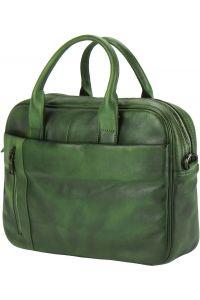 Γυναικειος Δερματινος Χαρτοφυλακας Firenze Leather 68037 Σκουρο Πρασινο