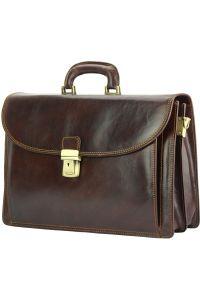 Δερματινος Χαρτοφυλακας Beniamino Firenze Leather 7630 Σκουρο Καφε