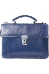 Δερματινος Χαρτοφυλακας Mini Lucio Firenze Leather 6564 Σκουρο Μπλε