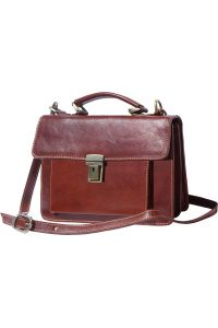 Δερματινος Χαρτοφυλακας Mini Lucio Firenze Leather 6564 Καφε