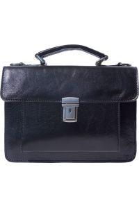 Δερματινος Χαρτοφυλακας Mini Lucio Firenze Leather 6564 Μαύρο