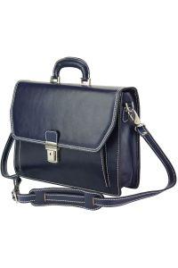 Δερματινος Χαρτοφυλακας Corrado Firenze Leather 7631 Σκουρο Μπλε
