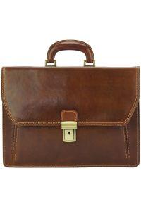 Δερματινος Χαρτοφυλακας Corrado Firenze Leather 7631 Καφε