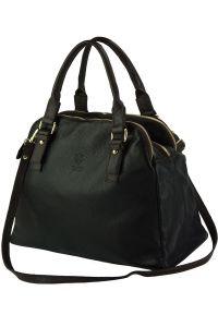 Δερμάτινη Τσάντα Χειρός Pierluigi Firenze Leather 9004 Μαύρο/Καφε