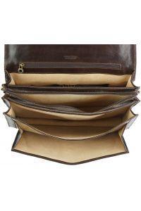 Δερματινος Χαρτοφυλακας Filippo Firenze Leather 7614 Σκουρο Καφε