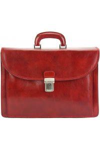 Δερματινος Χαρτοφυλακας Filippo Firenze Leather 7614 Κόκκινο