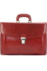 Δερματινος Χαρτοφυλακας Dalmazio Firenze Leather 7602 Κόκκινο