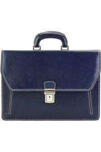 Δερματινος Χαρτοφυλακας Mini Sergio Firenze Leather 7606 Σκουρο Μπλε