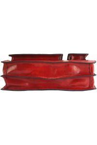 Χαρτοφυλακας Δερματινος Daniele Firenze Leather 7632 Κόκκινο