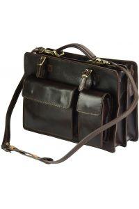 Χαρτοφυλακας Δερματινος Daniele Firenze Leather 7632 Σκουρο Καφε
