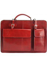 Γυναικειος Δερματινος Χαρτοφυλακας Daniele GM Firenze Leather 7633 Κόκκινο