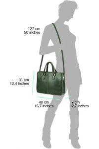 Γυναικειος Χαρτοφύλακας Δερμάτινος Rolando Firenze Leather 7629 Μαύρο