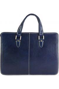 Γυναικειος Χαρτοφύλακας Δερμάτινος Rolando Firenze Leather 7629 Σκουρο Μπλε