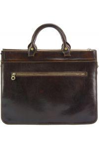 Δερματινος Χαρτοφυλακας Donato Firenze Leather 7634 Σκουρο Καφε