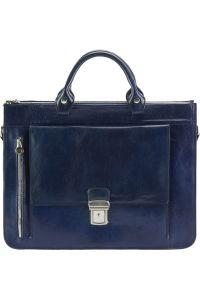Δερματινος Χαρτοφυλακας Donato Firenze Leather 7634 Σκουρο Μπλε