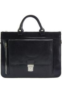Δερματινος Χαρτοφυλακας Donato Firenze Leather 7634 Μαύρο