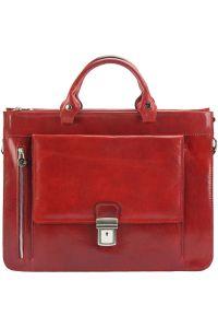 Δερματινος Χαρτοφυλακας Donato Firenze Leather 7634 Σκουρο Κόκκινο